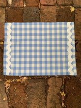 Load image into Gallery viewer, Blue Gingham Placemats