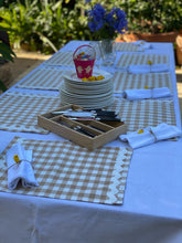 Load image into Gallery viewer, Stone Gingham Placemats