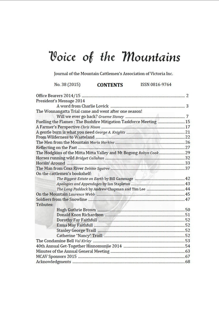 Voice of the Mountains 2015 EDITION