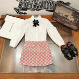 Gucci Set girl blues and skirt with box and tag