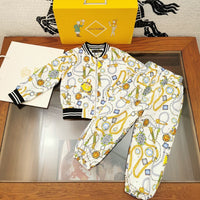 Versace Set boy blues and pant with box and tag