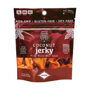Coconut Your Average Jerky: Seva Foods Coconut Jerky (GF, Vegan, Paleo)