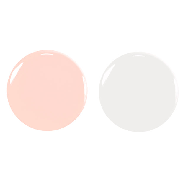 Green Flash Duo French - Snow & Pale Rose