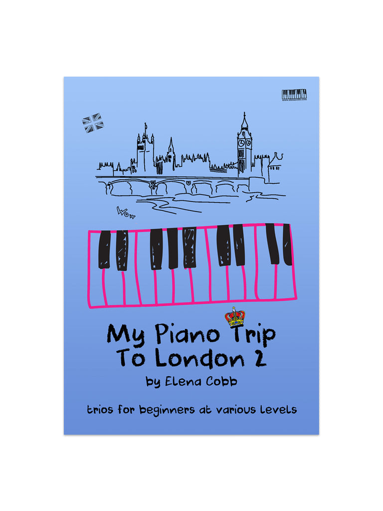 My Piano Trip to London Piano Trios Book 2 by Elena Cobb - Caydence Music Books