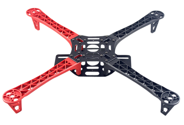 R450 Glass Fiber Quadcopter Frame 450mm - Red/Black v1