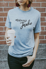 Women's Grey Balayage Junkie T-Shirt