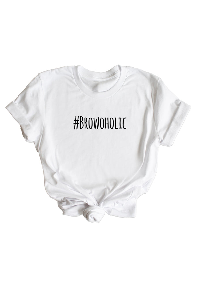 Women's White Browoholic Shirt