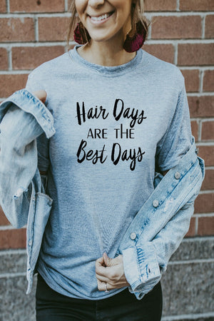 Womens's Grey Hair Days Are The Best Days Shirt