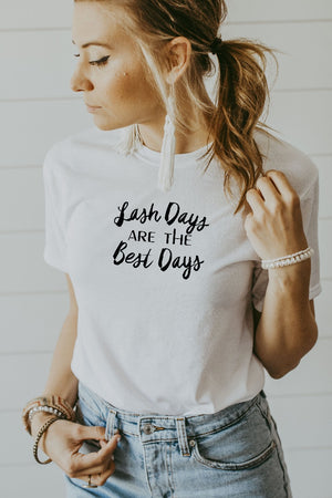 Women's White Lash Days Are The Best Days Shirt
