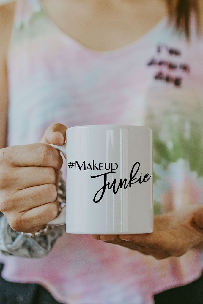 White Makeup Junkie Mug