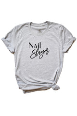 Women's Grey Nail Slayer Shirt