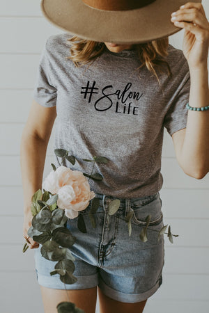 Women's Grey Salon Life Shirt