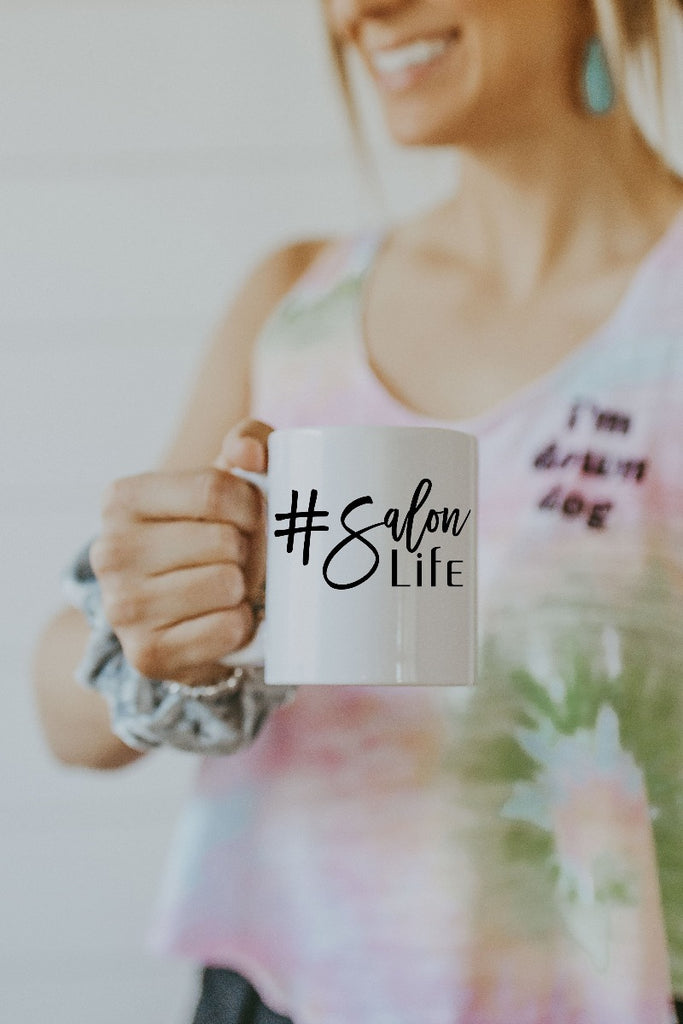 White Salon Life Mug