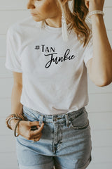 Women's White Tan Junkie Shirt