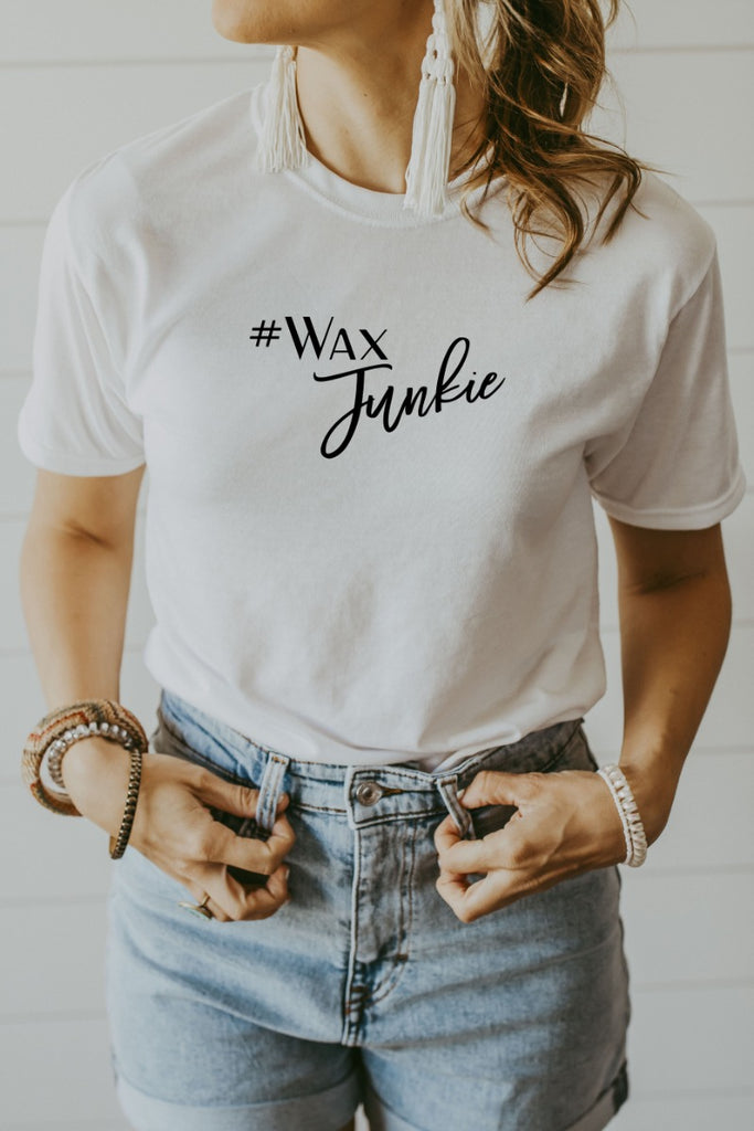 Women's White Wax Junkie Shirt