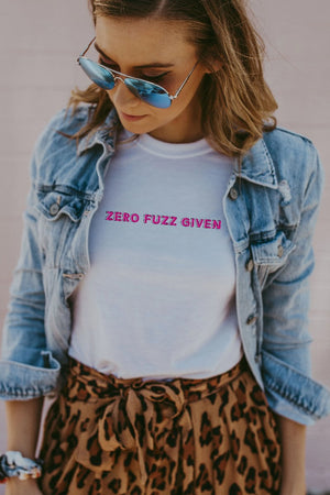 Women's White Zero Fuzz Given Shirt