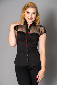 Heart blouse - Isabel's Retro & Vintage Clothing