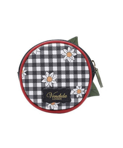 Daisy Garden Round Coin Purse With Zip - Isabel's Retro & Vintage Clothing