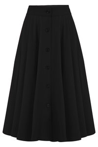 Black Beverly skirt - Isabel's Retro & Vintage Clothing