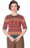 Christmas pud jumper - Isabel's Retro & Vintage Clothing
