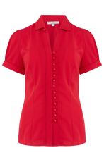 Load image into Gallery viewer, Red Margot blouse - Isabel's Retro & Vintage Clothing