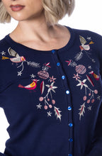Load image into Gallery viewer, Christmas bird cardigan - Isabel's Retro & Vintage Clothing