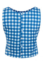 Load image into Gallery viewer, Eleonora Painted Gingham Top - Isabel's Retro & Vintage Clothing