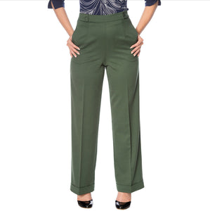 Green Trousers - Isabel's Retro & Vintage Clothing