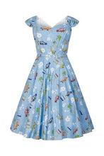 Load image into Gallery viewer, Sandra Car Swing Dress - Isabel's Retro & Vintage Clothing