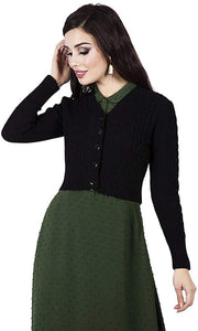 Black Mabel Cardigan - Isabel's Retro & Vintage Clothing
