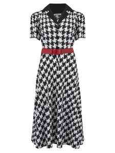 Houndstooth Shirt Dress - Isabel's Retro & Vintage Clothing