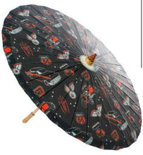 Load image into Gallery viewer, Hot rod parasol - Isabel's Retro & Vintage Clothing