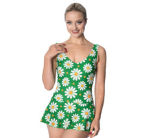 Load image into Gallery viewer, Crazy Daisy Swimming Costume - Isabel's Retro & Vintage Clothing