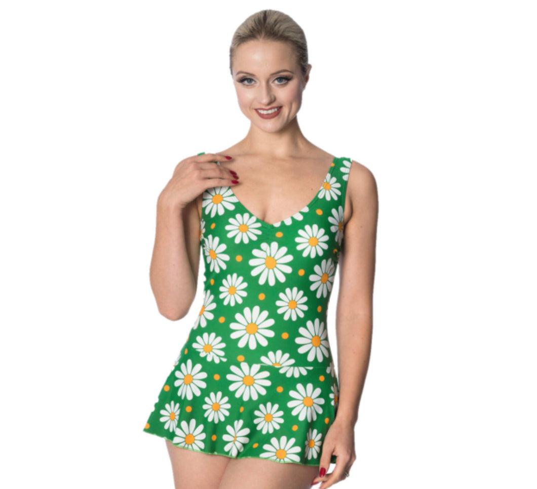 Crazy Daisy Swimming Costume - Isabel's Retro & Vintage Clothing