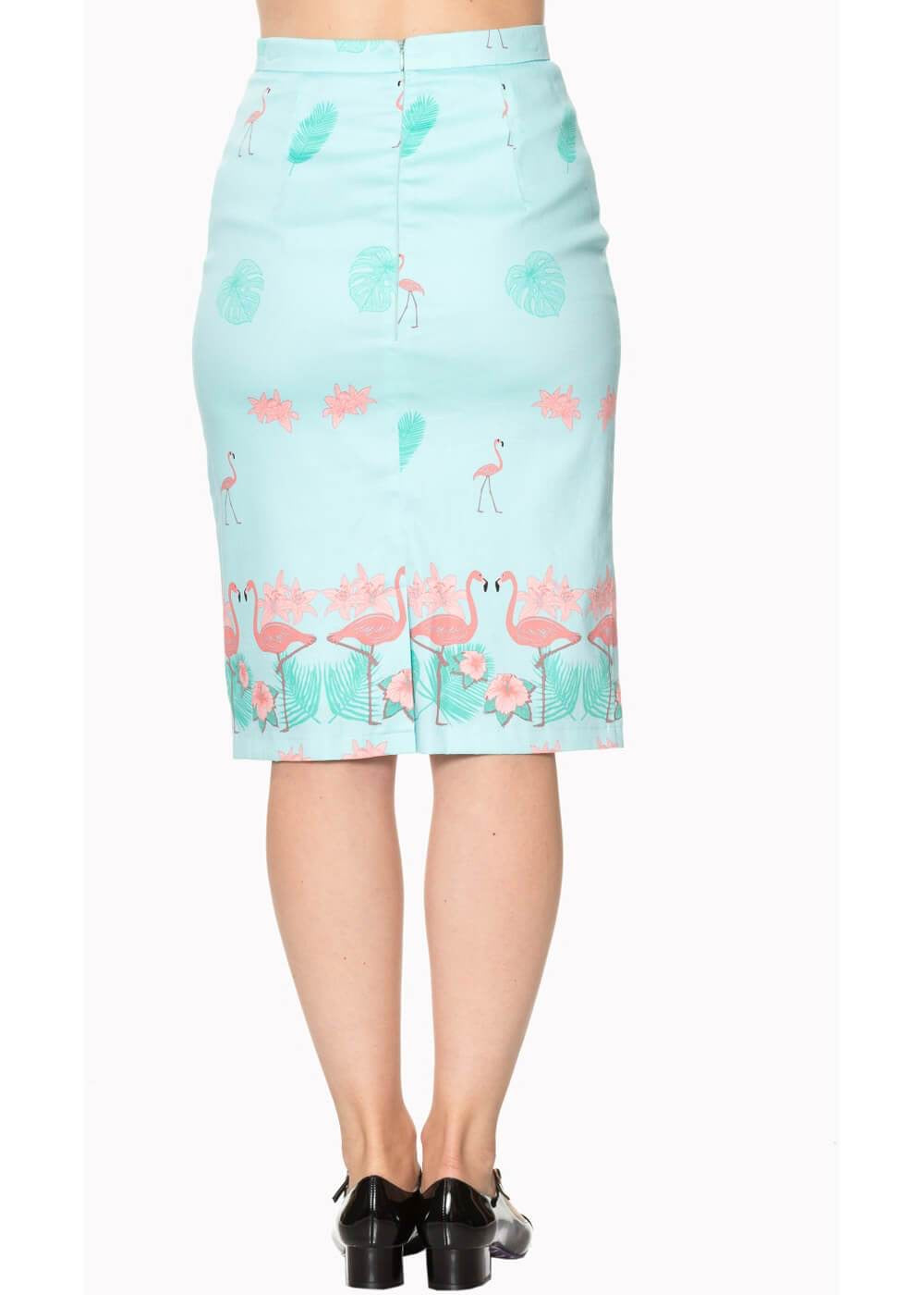 Flamingo Pencil Skirt - Isabel's Retro & Vintage Clothing