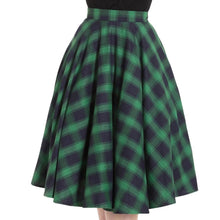 Load image into Gallery viewer, Green Tartan Circle Skirt - Isabel's Retro & Vintage Clothing