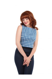 Eleonora Painted Gingham Top - Isabel's Retro & Vintage Clothing