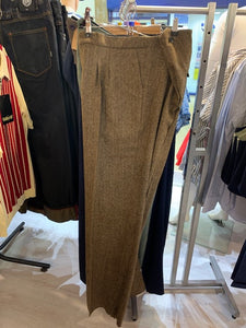 Tweed Fishtail Back Trousers - Isabel's Retro & Vintage Clothing
