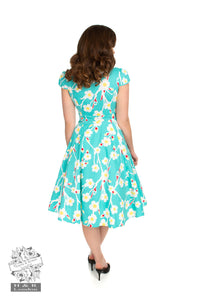 1950s Nancy Floral Swing Dress - Isabel's Retro & Vintage Clothing