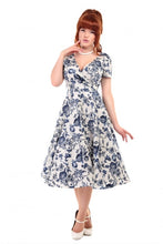 Load image into Gallery viewer, Maria Toile Floral Print Swing Dress - Isabel's Retro & Vintage Clothing