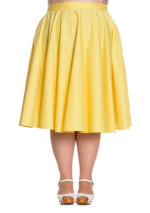 Paula 1950s Skirt - Yellow - Isabel's Retro & Vintage Clothing