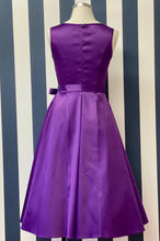 Load image into Gallery viewer, Purple 1950's swing dress - Isabel's Retro & Vintage Clothing