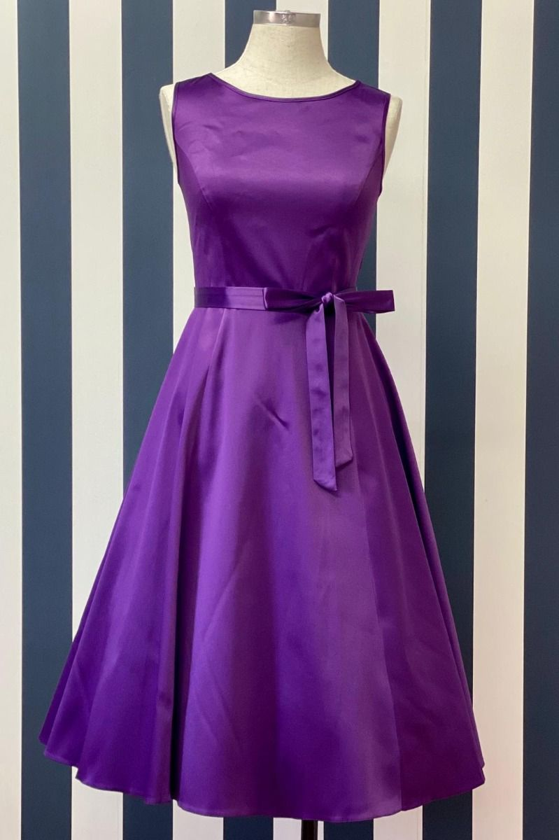 Purple 1950's swing dress - Isabel's Retro & Vintage Clothing