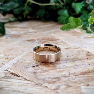 Modern Comfort Fit Yellow Gold Band