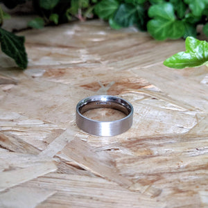 Modern Comfort Fit White Gold Band