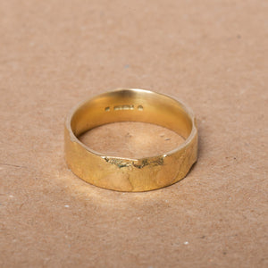 Wide Textured Fairtrade Gold Band