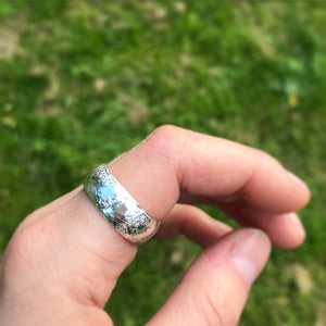 Recycled Silver Barrel Band