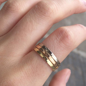 Fairtrade Gold Three Colours Ring Stack