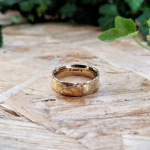 Load image into Gallery viewer, Wide Textured Fairtrade Gold Band