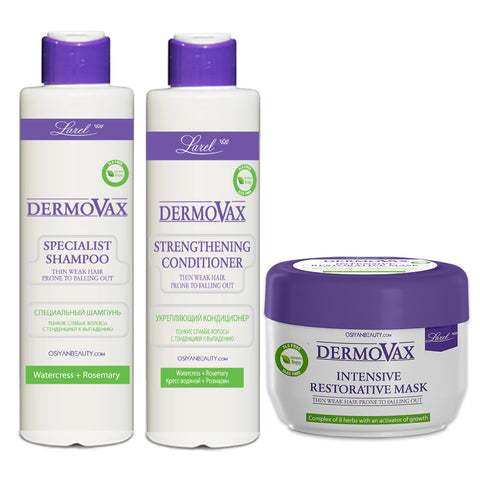 Dermovax  Specialist Anti-Hair Loss Combo ( Shampoo & Conditioner, Mask)